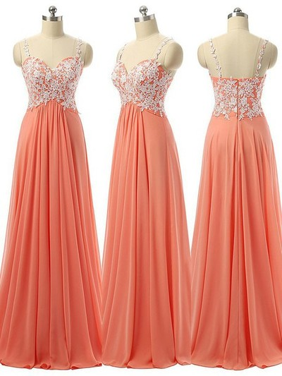 Prom Dress 2016,Chiffon Prom Dress,Long Prom Dress,Spaghetti Straps Prom Dress,Lace Evening Dress,A line Evening Gowns,Bridesmaids Dress,Cheap Bridesmaids Dress,Evening Formal Dress