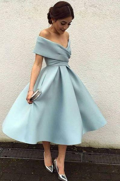 Blue Off Shoulder Prom Dress,Prom Dress 2017,Sexy Evening Dress ,Short Prom Gown ,Graduation Dress,Women Dress ,Short Homecoming Dress,2017 Prom Dress,Party Dress,