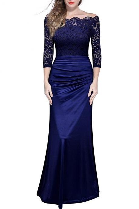 New Fashion Prom Dress,Off Shouler Lace Prom Dresses,Off Shouler Lace Prom Dresses,Beautiful Prom Party Dress,Long Prom Dress,Charming Evening Dress,