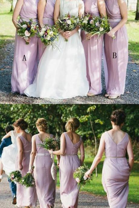 2018 Bridesmaid Dresses,Long Bridesmaid Dresses,Chiffon Bridesmaid Dresses,Bridesmaid Dresses Long,Modest Bridesmaid ,Wedding Party Dress,