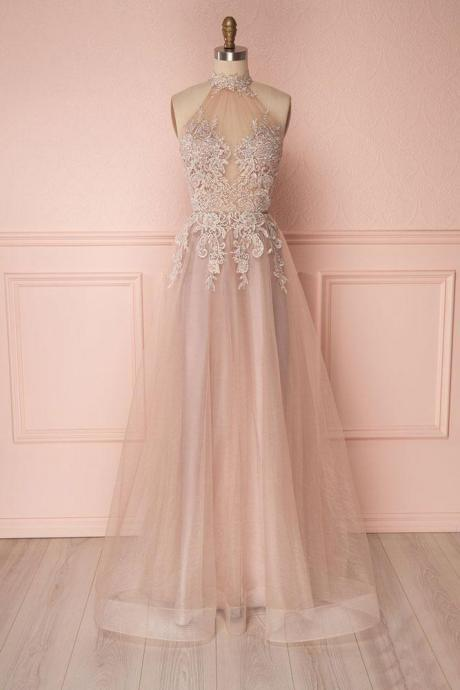 Senior Prom Dress,Beading Prom Dress,Lace Prom Dress,High Neck Prom Dress,High Quality Prom Dress,Sexy Party Dress,Formal Graduation Dress,