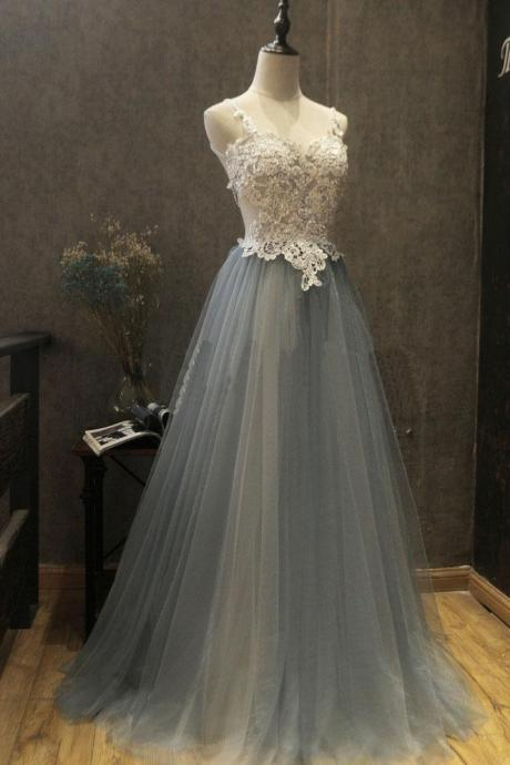 Sexy Tulle Prom Dress,Prom Dress,Long Prom Dress,Lace Appliques Prom Dress,Prom Dress,Formal Dress,Beautiful Graduation Dress,