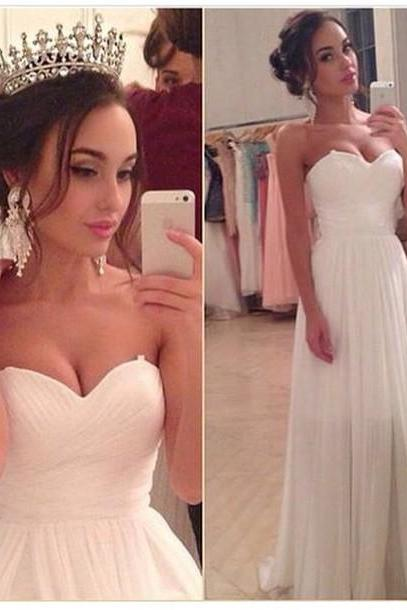 A-Line Prom Dress,Chiffon Prom Dress ,Sweetheart Long Prom Dress,Floor Length Women Dress,v-Neck Party Dress,Charming Graduation Dress,