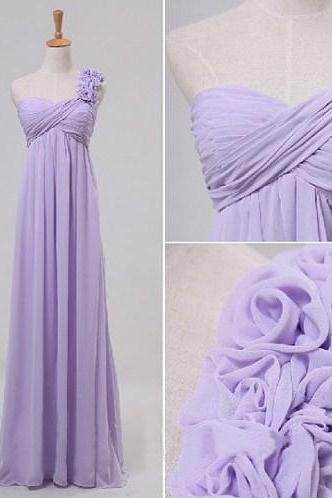 Hot Sale Bridesmaid Dresses,Long Bridesmaid Dresses,Flower Bridesmaid Dresses,A-Line Bridesmaid Dresses,Chiffon Bridesmaid Dresses,Cheap Bridesmaid Dresses ,One-Shoulder Bridesmaid Dresses