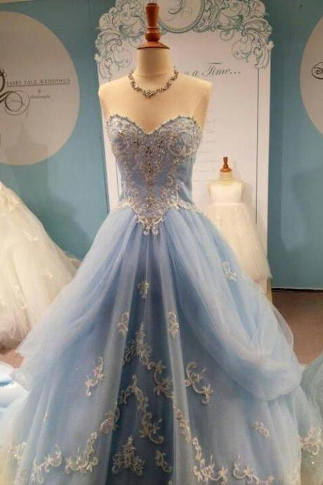 Hot Sale Prom Dress,Charming Prom Dress, High Quality Prom Dress ,A-Line Prom Gows,Appliques Evening Dress, Floor Length Prom Dress,Tulle Formal Dress,
