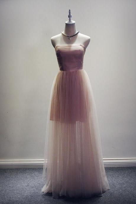 Sweetheart A-Line Floor Length Strapless Tulle Homecoming Dress,Tulle Prom Dress,Cheap Homecoming Dress,Simple Prom Dress,Party Dress,Prom 2016,Graduation Dress,