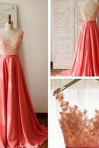 2016 Hot Sale Prom Dresses,Appliques Prom Dresses,Beading Prom Dresses, A-Line Floor Length Prom Dresses,Sexy Backless Prom Dresses,Evening Dress,Formal Prom Dress,