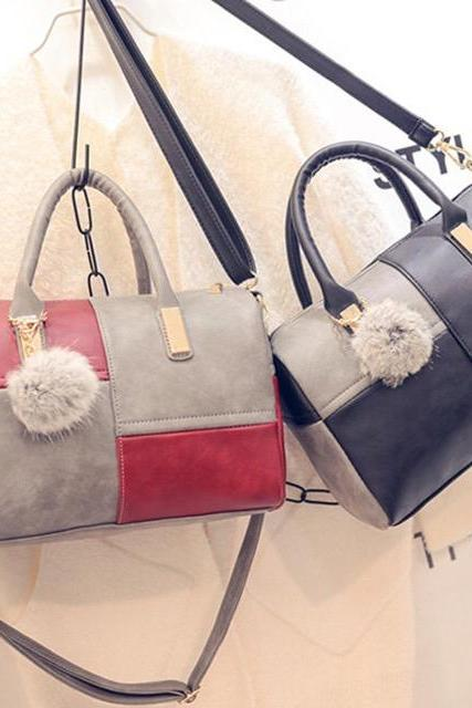 2016 New Fashion PU Women Handbags Bags,Flower Color Shoulder Bags,Simple Fashion Bag
