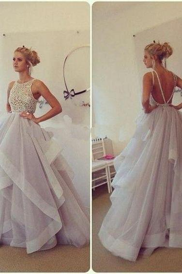 Hot Sale Ball Gown Prom Dress,Backless Prom Dress,Tulle Long Sexy Evening dress For Teens Juniors Dress,Ball Gown Prom Dress 2016,Formal Graduation Dress