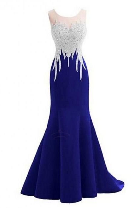 Royal Blue Prom Dresses,Sparkly Crystal Prom Dresses,Sleeveless Prom Dresses,Mermaid Prom Dresses,Long Prom Dresses,Prom Dress 2016,