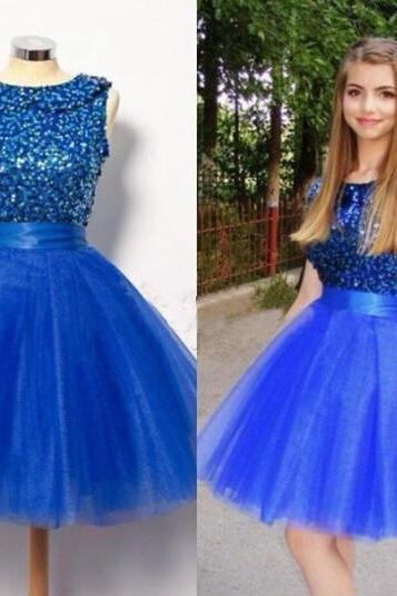 New Arrival Royal Blue Prom Dress,Short Royal Blue Homecoming Dress,Beaded Homecoming Dress,Short Party Dresses,Graduation Dress For Teens,Short Evening Dresses,2016 Royal Blue Formal Dress,