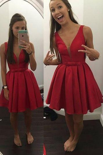 Brief Short Prom Dress, Short Homecoming Dresses,Lovely Prom Dress,Graduation Dress 2016,Party Dress,Wedding Party Dress,Formal Dress On Sale ,A line Prom Evening Dress,Satin Prom Dress