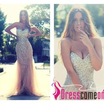 Mermaid Prom Dresses, Prom Dresses 2015, Prom Dresses Champagne, Dresses For Prom, Floor Length Prom Dresses, Sexy Prom Dresses