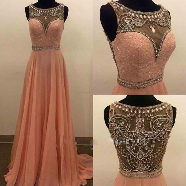 High Qualiyt Evening Dress,Beaded Chiffon Prom Dress,Long Prom Gowns,A line Prom Dress,Real Custom Made Prom Dress,Prom And Evening Events Dress,Formal Dress